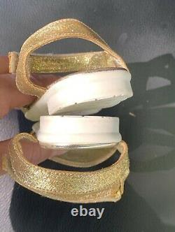 Young Versace ankle strap medusa logo flat sandals Shoes 20
